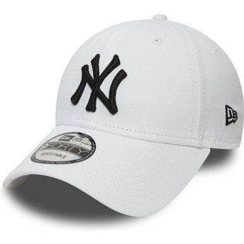 New Era Curved Brim 9FORTY Essential New York Yankees MLB Adjustable Cap weiß