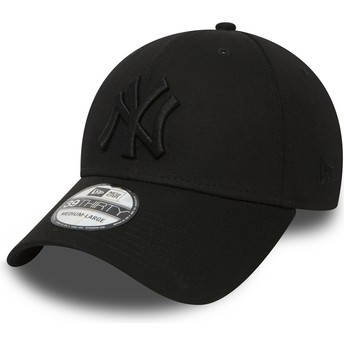 Casquette courbée noire ajustée avec logo noir 39THIRTY Classic New York Yankees MLB New Era