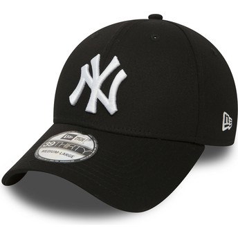 New Era Curved Brim 39THIRTY Classic New York Yankees MLB Fitted Cap schwarz