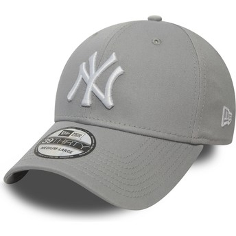 Casquette courbée grise ajustée 39THIRTY Classic New York Yankees MLB New Era