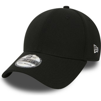 New Era Curved Brim 39THIRTY Basic Flag Fitted Cap schwarz