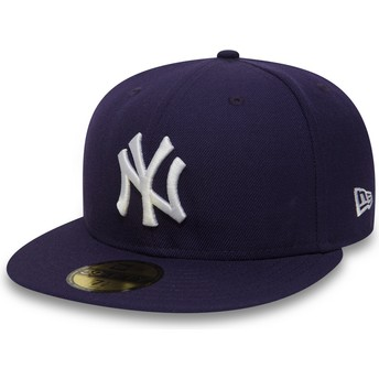 Casquette plate violette ajustée 59FIFTY Essential New York Yankees MLB New Era