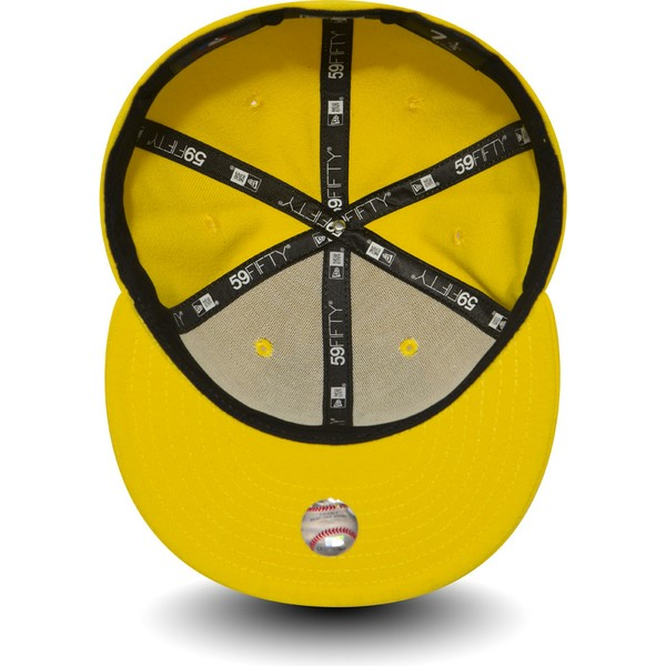 casquette-plate-jaune-fonce-ajustee-59fifty-essential-new-york-yankees-mlb-new-era