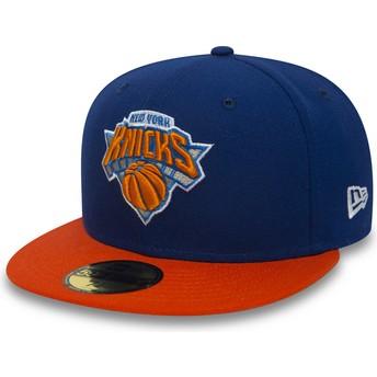 Casquette plate bleue ajustée 59FIFTY Essential New York Knicks NBA New Era