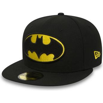 Casquette plate noire ajustée 59FIFTY Batman Character Essential Warner Bros. New Era