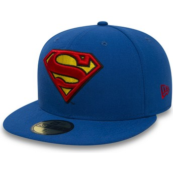 Casquette plate bleue ajustée 59FIFTY Superman Character Essential Warner Bros. New Era