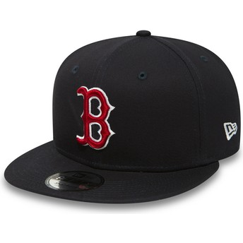 New Era Flat Brim 9FIFTY Essential Boston Red Sox MLB Snapback Cap marineblau