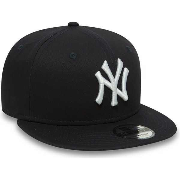 casquette-plate-bleue-marine-snapback-9fifty-essential-new-york-yankees-mlb-new-era