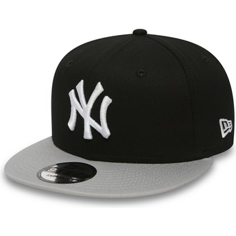 Casquette plate noire snapback 9FIFTY Cotton Block New York Yankees MLB New Era