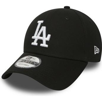 Cappellino visiera curva nero regolabile 9FORTY Essential di Los Angeles Dodgers MLB di New Era