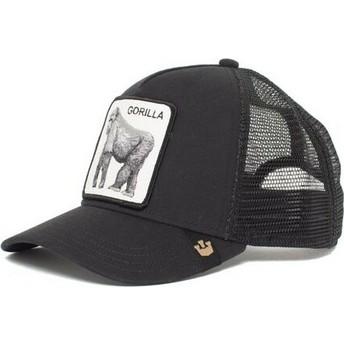 Cappellino trucker nero gorilla King of the Jungle di Goorin Bros.
