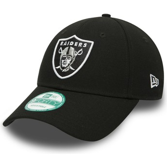 New Era Curved Brim 9FORTY The League Oakland Raiders NFL Adjustable Cap schwarz