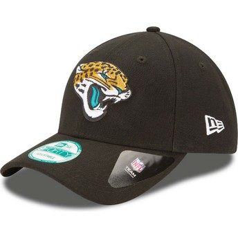 New Era Curved Brim 9FORTY The League Jacksonville Jaguars NFL Adjustable Cap schwarz