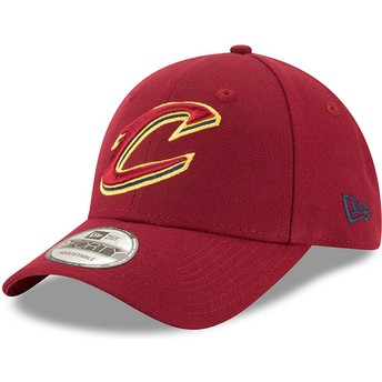 New Era Curved Brim 9FORTY The League Cleveland Cavaliers NBA Adjustable Cap rot
