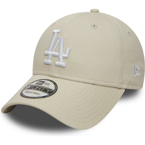 casquette-courbee-blanc-casse-ajustable-9forty-essential-los-angeles-dodgers-mlb-new-era