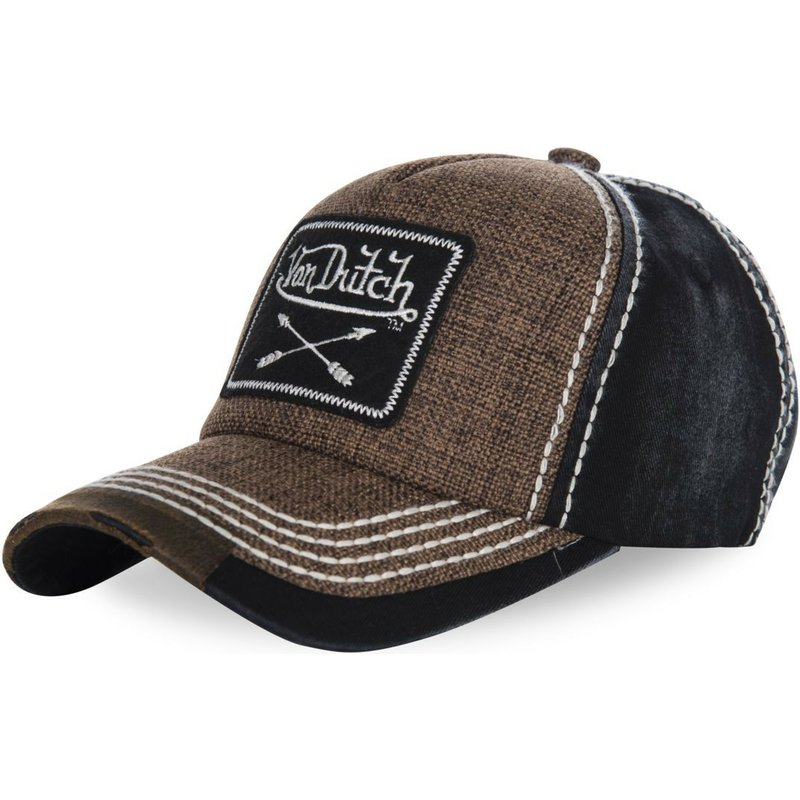 casquette-courbee-marron-ajustable-arrow02-von-dutch