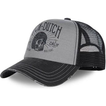 Casquette courbée grise et noire ajustable CREW1 Von Dutch