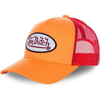 Casquette trucker orange et rouge FRESH03 Von Dutch