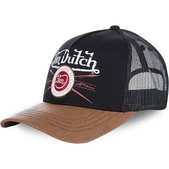 Casquette trucker noire et marron PIN Von Dutch