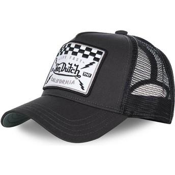 Cappellino trucker nero SQUARE8B di Von Dutch