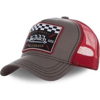 Von Dutch SQUARE17 Trucker Cap braun und rot