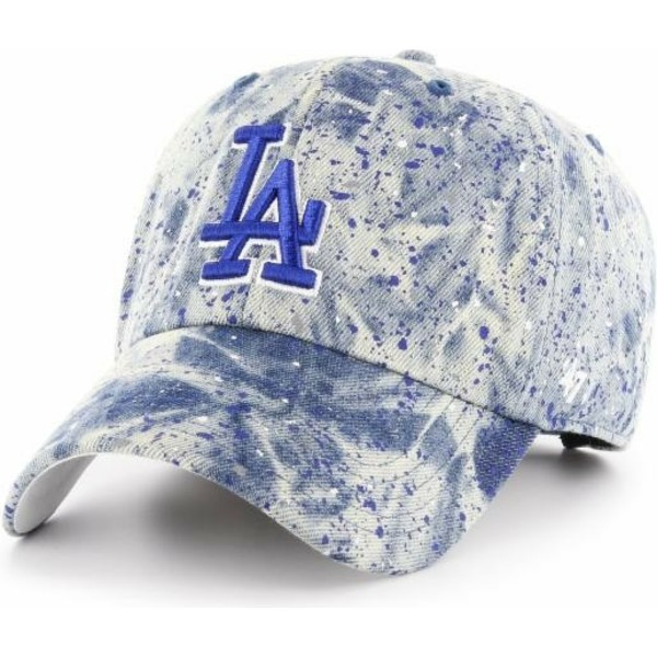 casquette-courbee-bleue-avec-logo-bleu-los-angeles-dodgers-mlb-clean-up-splat-47-brand