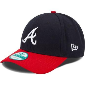 New Era Curved Brim 9FORTY The League Atlanta Braves MLB marineAdjustable Cap blau und rot