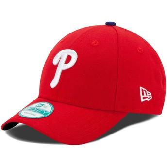 New Era Curved Brim 9FORTY The League Philadelphia Phillies MLB Adjustable Cap rot