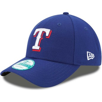 Casquette courbée bleue ajustable 9FORTY The League Texas Rangers MLB New Era