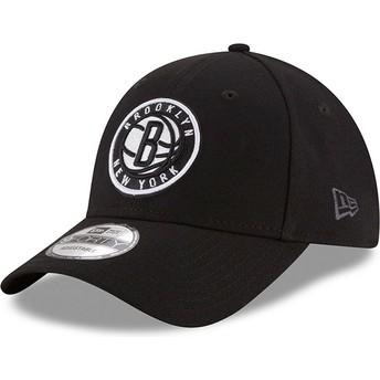 Casquette courbée noire ajustable 9FORTY The League Brooklyn Nets NBA New Era