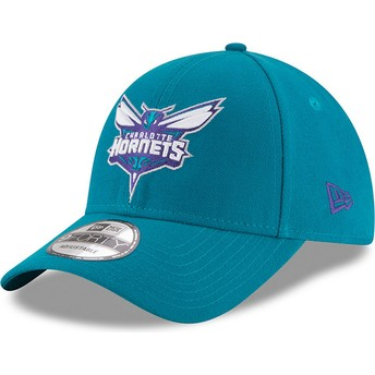 Casquette courbée bleue ajustable 9FORTY The League Charlotte Hornets NBA New Era