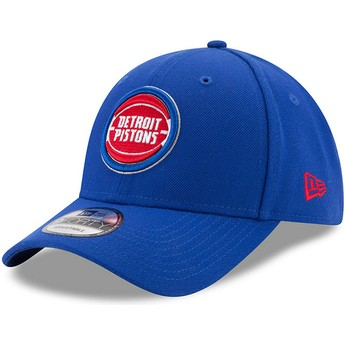 New Era Curved Brim 9FORTY The League Detroit Pistons NBA Adjustable Cap blau