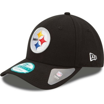 Casquette courbée noire ajustable 9FORTY The League Pittsburgh Steelers NFL New Era
