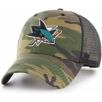 47 Brand San Jose Sharks NHL MVP Branson Trucker Cap camo