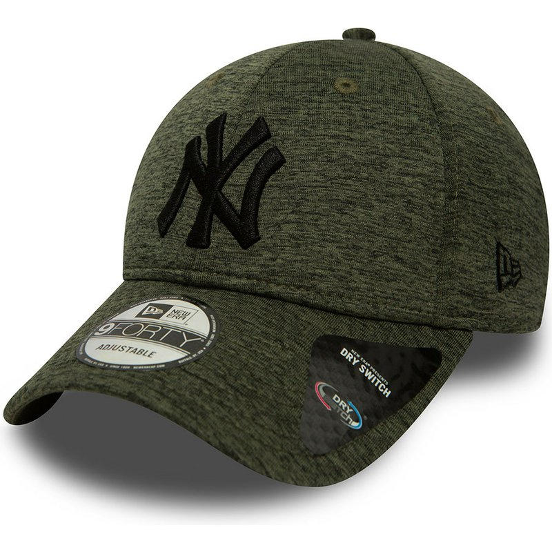 casquette-courbee-verte-ajustable-9forty-dry-switch-jersey-new-york-yankees-mlb-new-era