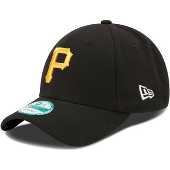 New Era Curved Brim 9FORTY The League Pittsburgh Pirates MLB Adjustable Cap schwarz