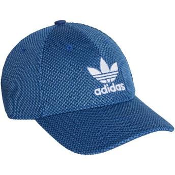 Adidas Weißes Logo Curved Brim Trefoil Primeknit Adjustable Cap blau