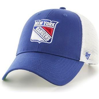 Casquette trucker bleue New York Rangers NHL MVP Branson 47 Brand