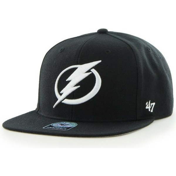 casquette-plate-noire-tampa-bay-lightning-nhl-captain-sure-shot-47-brand