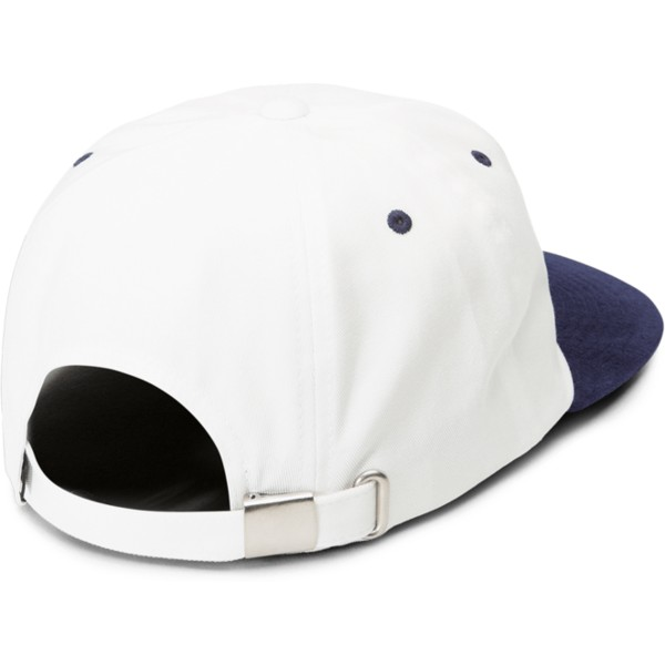 casquette-plate-blanche-ajustable-avec-visiere-bleue-marine-shift-stone-midnight-blue-volcom