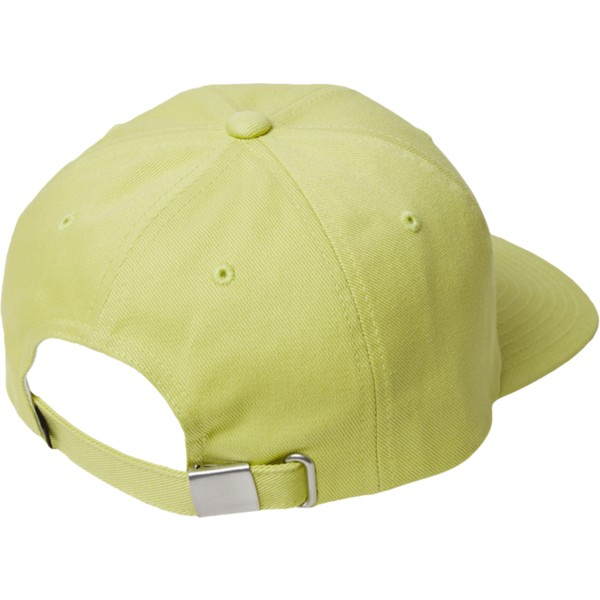 casquette-courbee-jaune-ajustable-case-shadow-lime-volcom
