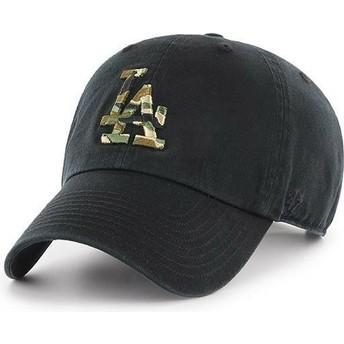 47 Brand Curved Brim Camouflage Logo Los Angeles Dodgers MLB Clean Up Camfill Cap schwarz