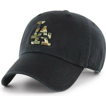Casquette courbée noire avec logo camouflage Los Angeles Dodgers MLB Clean Up Camfill 47 Brand