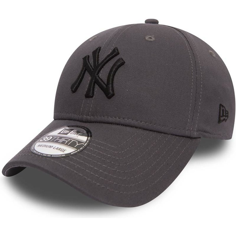 casquette-courbee-pierre-ajustee-avec-logo-noir-39thirty-league-essential-new-york-yankees-mlb-new-era