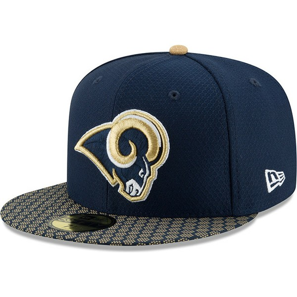 casquette-plate-bleue-ajustee-59fifty-sideline-los-angeles-rams-nfl-new-era