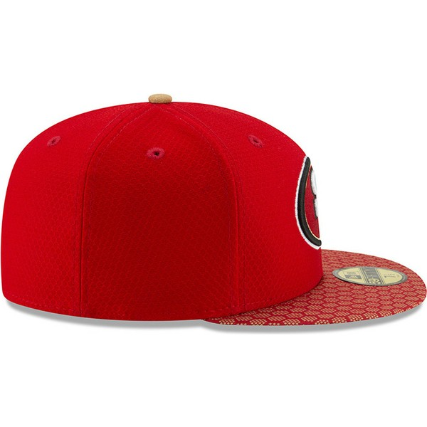casquette-plate-rouge-ajustee-59fifty-sideline-san-francisco-49ers-nfl-new-era
