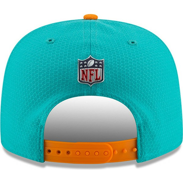 casquette-plate-bleue-snapback-9fifty-sideline-miami-dolphins-nfl-new-era