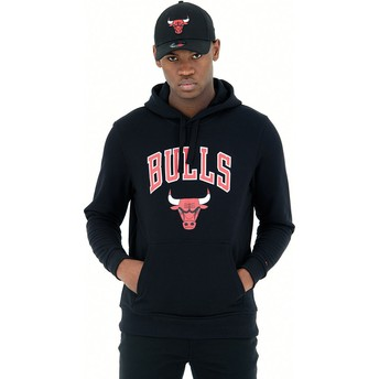 New Era Pullover Hoodie Kapuzenpullover Chicago Bulls NBA Sweatshirt schwarz