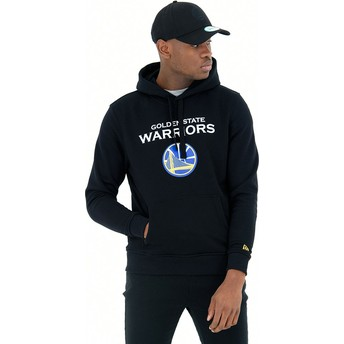 New Era Pullover Hoodie Kapuzenpullover Golden State Warriors NBA Sweatshirt schwarz