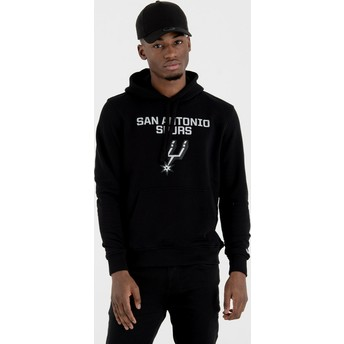 New Era Pullover Hoodie Kapuzenpullover San Antonio Spurs NBA Sweatshirt schwarz